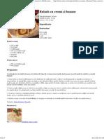 Rulada Cu Crema Si Banane - Retete Culinare - Romanesti Si Din Bucataria Internationala