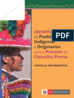 Cartilla Informativa. Identificación de Pueblos Indígenas u Originarios para el proceso de Consulta Previa