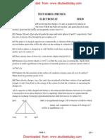 CBSE Class 12 Physics Assignment - Electrostat (2)