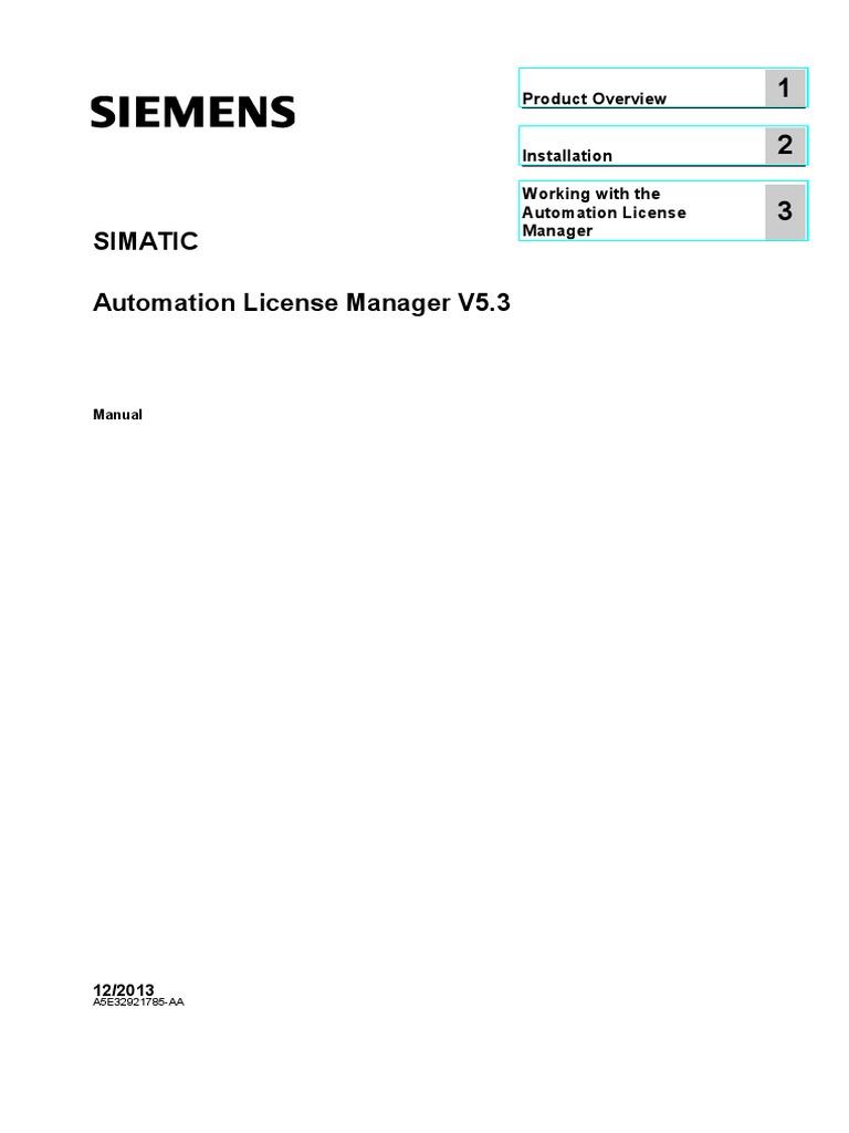 Automation license manager siemens скачать
