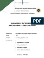 hipotiroidismo y hipertiroidismo