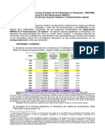 Economía Creativa de La Publicidad en Vnenezuela 1996-2008