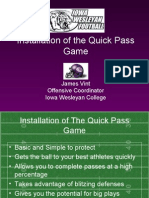 Iowa Wesleyan College - Installation of the Quick Pass Game