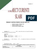 Proiect sistem securitate antiefractie