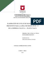 Plan de Mantenimiento FMECA