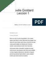Neville Goddard Leccion 1