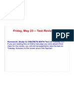 Discrete Math Test Review-FlipChart