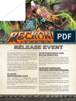 Reckoning Book Release Event Rules