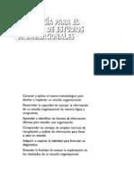 METODOLOGÍA PARA EL DESARROLLO DE ESTUDIOS ORGANIZACIONALES