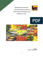 Microbiologia de Frutas y Hortalizas