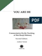 You Are He; Commentaries on the Teaching of Shri Ranjit Maharaj