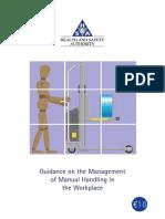 Guidance for Manual Handling