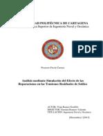 Analisis Mediante Simulación Del Efecto de Las Reparaciones en Las Tensiones Residuales