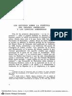 Los estudios sobre la fonética del español americano y las lenguas amerindias