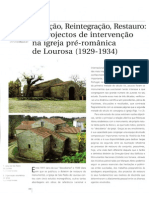 Igreja da Lourosa Reconstituição Reintegração e Restauro