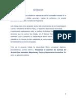 Auditoria de Inmueble Maquinaria y Equipo