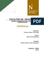 Caratula Del Portafolio