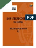Categorizacion de Vias en Nacionales 2012