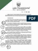 RVM N° 021-2015-MINEDU