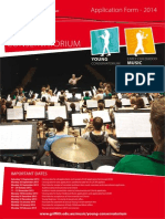Young Conservatorium Application Form 2014