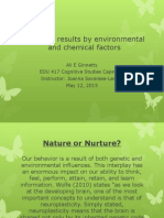 behavior results by environmental and chemical factors 1