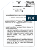 Decreto 75 Del 23 de Enero de 2013 Renovación Urbana