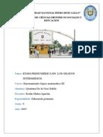 Etapa Prenumérica en Los Grados Intermedios
