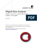 Digital Data Analysis Guide to Tools