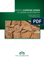 2013 University Convocation Program