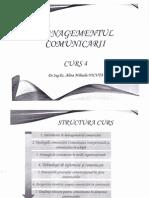 Managementul Comunicarii - Curs 4 ENGLEZA