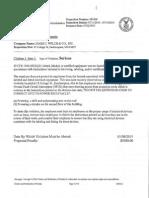 OSHA Violations James J. Welch contractors 15 Cottage St Easthampton