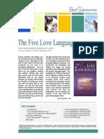5 Love Languages Summary