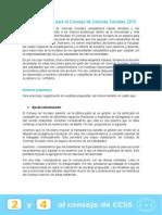 Plan de Trabajo - Consejo de Ciencias Sociales 2015