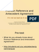 Pronoun Ref and Agreement II