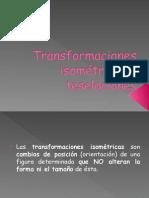 Transformaciones Isométricas y Teselaciones