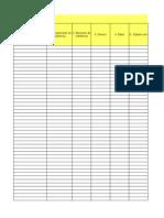 Plantilla Para Registrar Datos de Los Conductores