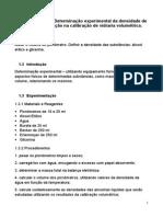 Determinação experimental da densidade de líquidos e aplicação na calibração de vidraria volumétrica
