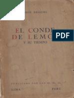 Jorge Basadre-el Conde de Lemos y Su Tiempo