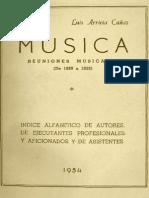 Música Reuniones Musicales (De 1889 a 1933)