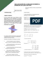 Informe de Algebra