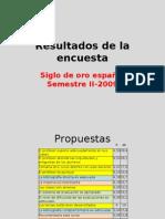 Resultados de la encuesta Siglo de oro español 2009