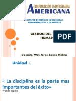 Gestion Del Talento Humano Unidad 1 Contexto de La Gestión de Talento Humano DEFINICION Y EVOLUCION