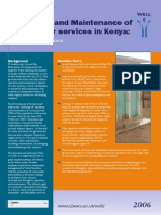 WELL CN15-1 Operation and Maintenance of Rural Water Services in Kenya