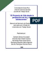"""""""El Proyecto de Vida desde la perspectiva de los y las adolescentes"""""""