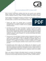 Declaración Frente a Las Ayudantías Del MG
