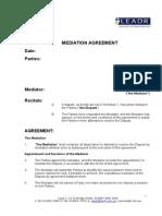 Standard Mediation Agreement
