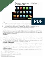 Compendio de Definiciónes y Clasificacion de Software y Hardware Varias Fuentes