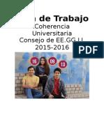 Plan de Trabajo Consejo EE.GG.LL. 2015/2016