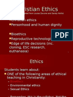 appendix 1 - christian ethics
