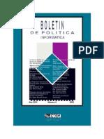 Boletin de Politica Informatica No 6 2003
